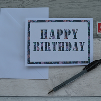 Birthday Card, Handcrafted Card