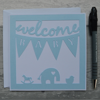 New Baby card, Welcome Baby,