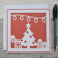 Christmas card, Happy Christmas, Christmas Tree