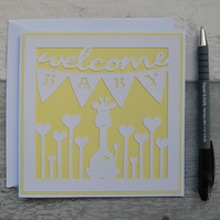 Welcome Baby card, New Baby card