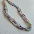Pastel shades seedbead necklace,Multistrand necklace,Mother's day gift