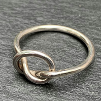 Handmade Round Sterling Silver'Knot' Ring