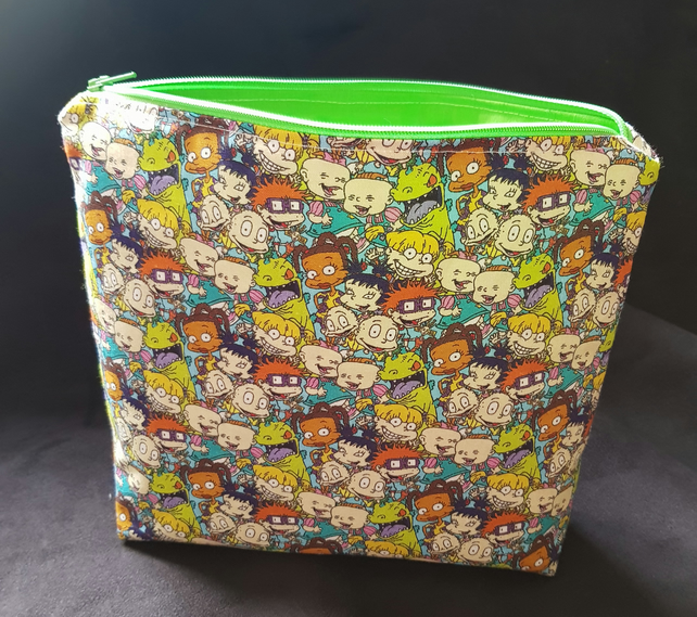 Rugrats makeup bag, large pencil case, zip pouch