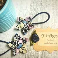 Liberty Handmade Flower Hair Bands - Wiltshire Berry Blue