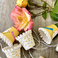 Charity upcycled Mini Lampshade Fairy Lights - Love and Hope
