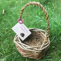 Small Hand Woven Willow Basket