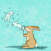 Blowing bubbles - Art print