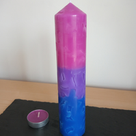 Mosaic Bisexual Thin church candle
