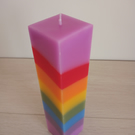8 stripe Rainbow pillar candle