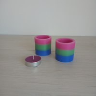 Pair of scented Polysexual candles
