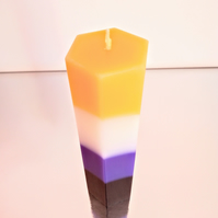Non-binary Hexagon candle