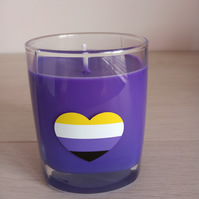 Non-binary Heart Soy double wick container in a choice of colour