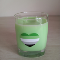 Aromantic Heart Soy double wick container in a choice of colour