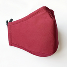 Red Cotton Face Mask , Nose Wire , Filter Pocket, Washable Unisex Mask