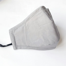 Grey Cotton Face Mask , Nose Wire , Filter Pocket, Washable Unisex Mask