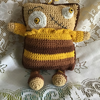 A crochet cuddly monster