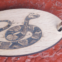 Homemade wooden Snake keyring
