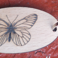 Homemade wooden Butterfly keyring
