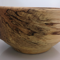 Spalted beech wooden bowl, coated in Tung oil (15)