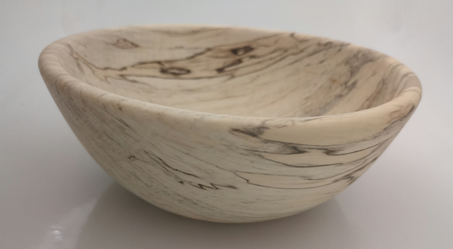 Spalted beech wooden bowl, Not treated. (14)