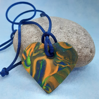 Multicoloured heart pendant