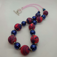 Pretty polymer clay necklace