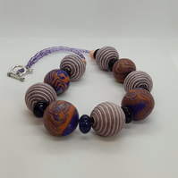 Chunky polymer clay necklace