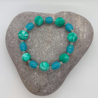 Bright and colour polymer clay bracelet