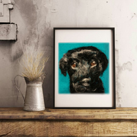 Custom Needle-Felted Pet Portrait! - Made To Order (memorial,  cat, dog, 2D Pet)