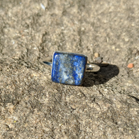 Lapis Lazuli and Sterling Silver ring size Q