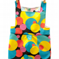 Bubbling Circles Baby Girl Pinafore Dress