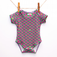 Yellow Car Baby Bodysuit Vest