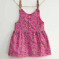Building Blocks Baby or Toddler Girl Pinafore Dress