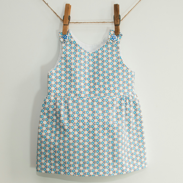 Dotty Baby or Toddler Girl Pinafore Dress