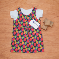Red Balloon Baby or Toddler Girl Pinafore Dress