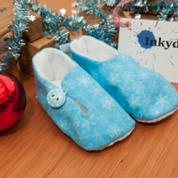 Christmas Snowflake Blue Shoe