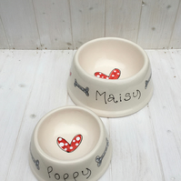 Personalised Dog Bowl for Smaller Breeds