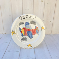 Personalised Hand Painted Children's Dinner Plate