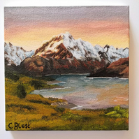 Mount Cook Mini Painting