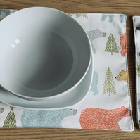 Handmade Placemat with matching Cutlery Pouch