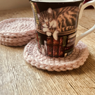 Dusty Pink Coasters (Set of 4)