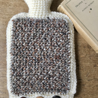 Tweed thick water bottle cover with 2 litre hot water bottle
