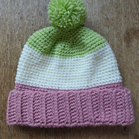 Colour Block Hat in Candy Colours (Age 4-7 years approx)