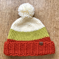 Ladies Autumn chunky crocheted hat.