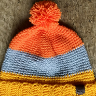 Age 8-10 Colour Block Hat