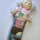 Christmas stocking for child or adult upcycled from felted wool blankets.