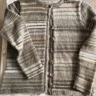 Ladies taupe cardigan size 14-16