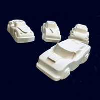 Paint your own 3D Cars, Set of 4 Handmade Plaster Cars, Painting Kit for Kids,
