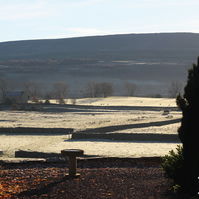 A6 Landscape Greetings Card - Cold, Frosty Morning