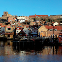 DL Landscape Greeting Card - Whitby Harbour
